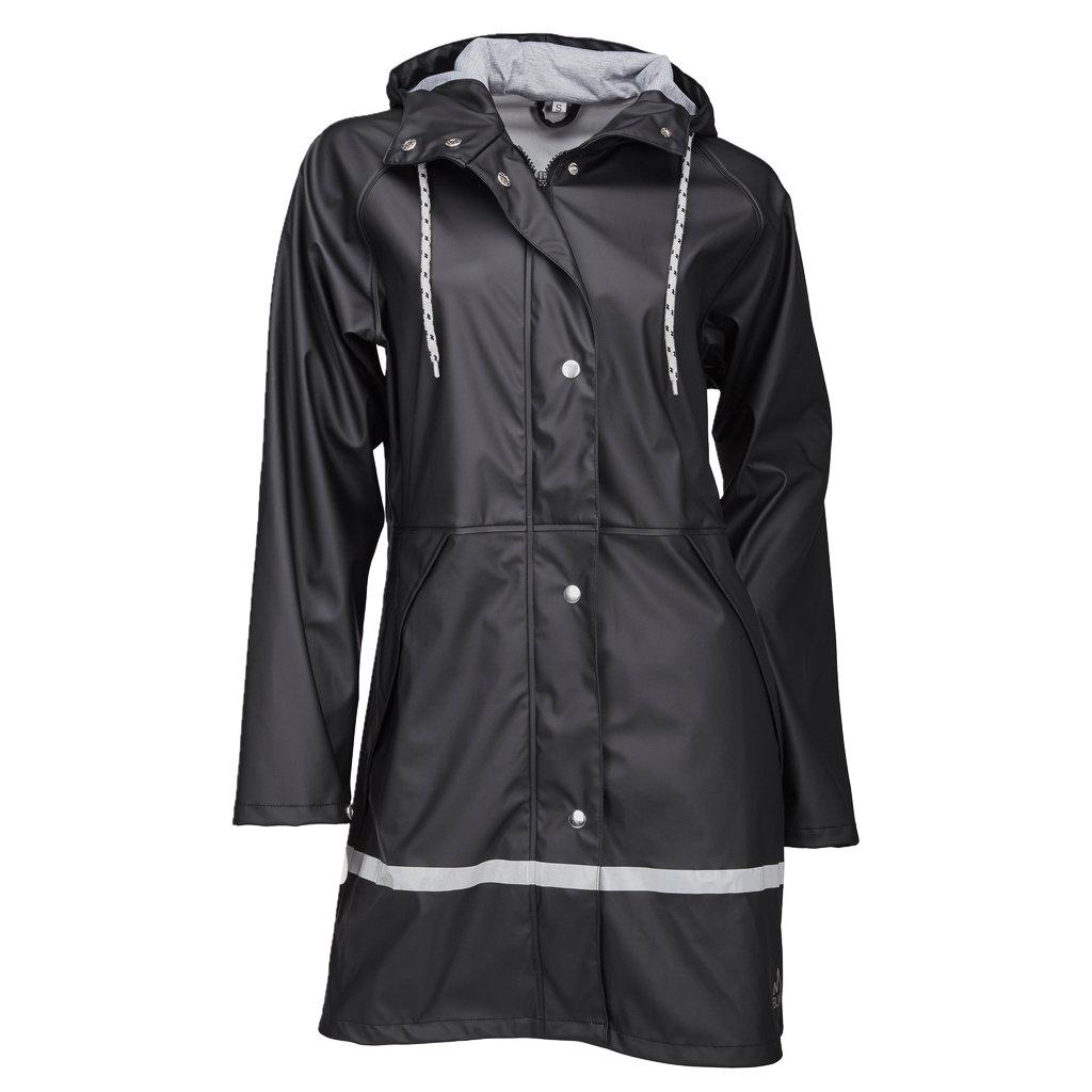 Płaszcz przeciwdeszczowy damski | Ocieplany kaptur | OUTDOOR