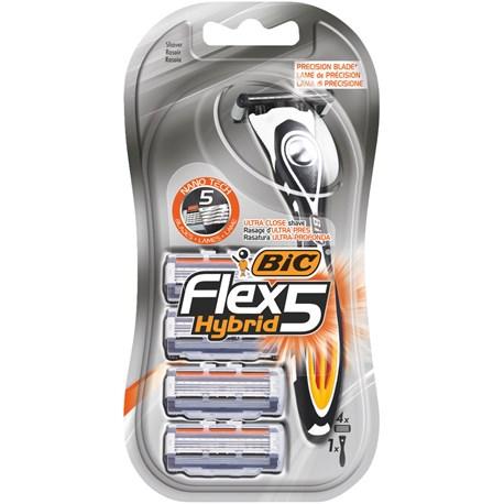 Unikalne Maszynka do golenia 5 elementów | BIC Flex 5 Hybrid NL25