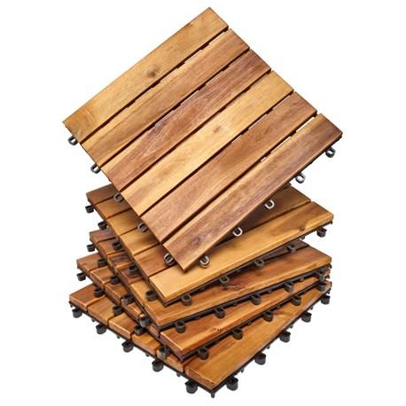 Płytki Podłogowe Z Drewna Akacjowego 5 Szt Hard Head