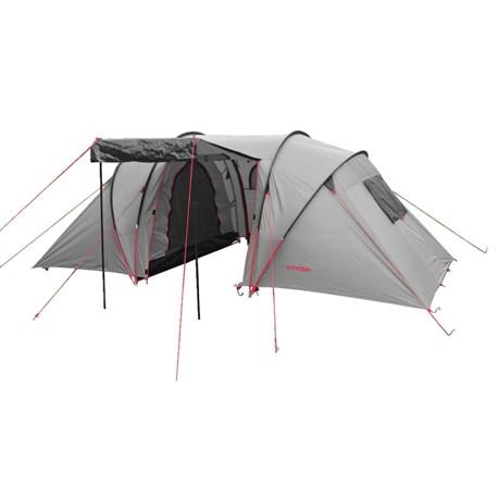 Modernistyczne Namiot czteroosobowy | Dwie sypialnie 210 x 140 cm | KAYOBA DW62